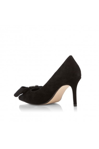 Pantofi cu toc NISSA din piele naturala Negru