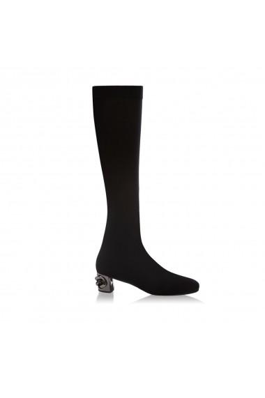 Cizme NISSA elegante elastice Negru