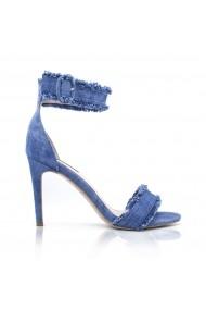 Sandale cu toc NISSA cu toc din denim Albastru