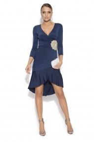 Rochie NISSA eleganta cu detaliu in talie Bleumarin
