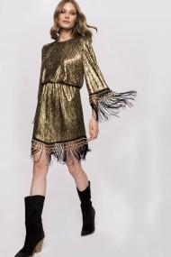 Rochie NISSA cu pelicula aurie Auriu