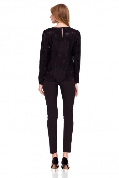 Pantaloni skinny NISSA slim casual Negru