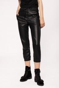 Pantaloni trei sferturi NISSA skinny cu talie inalta Negru