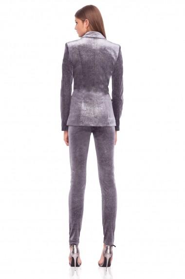 Pantaloni skinny NISSA slim din catifea Gri