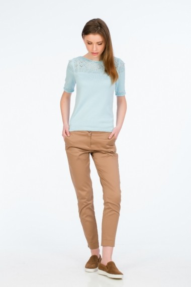 Pantaloni drepti camel pentru femei marca Be You - els