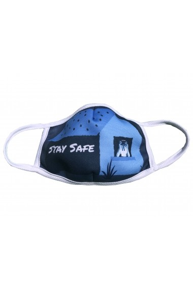 Masca de protectie din material textil Albastru