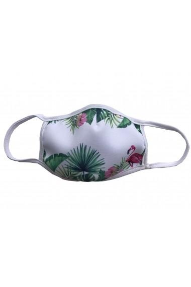 Masca de protectie din material textil Alb