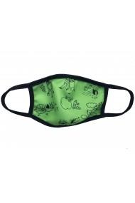 Masca de protectie din material textil kids Green draws Verde