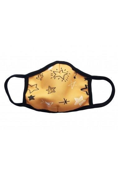 Masca de protectie din material textil kids Yellow Stars Galbena
