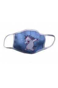 Masca de protectie din material textil kids Unicorn Bleu