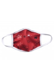 Masca de protectie din material textil kids Red Stars Rosu