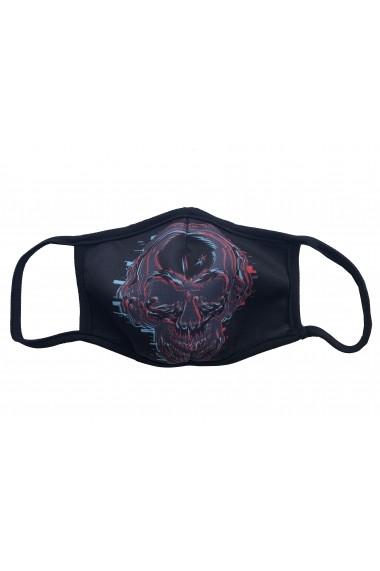 Masca de protectie din material textil men Black Skeleton Negru