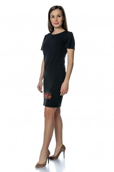 Rochie de zi Crisstalus RO242 negru