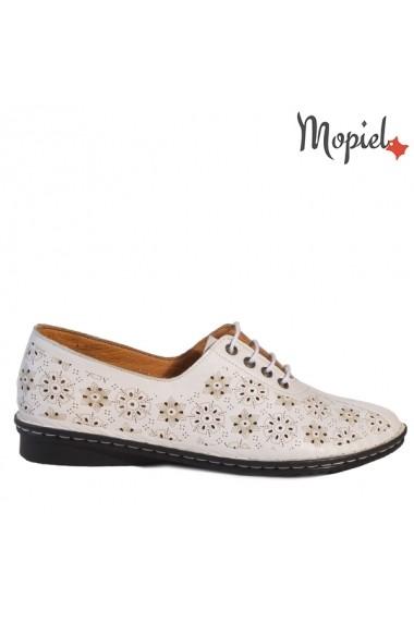 Pantofi Mopiel din piele naturala Sofia 230305 Alb