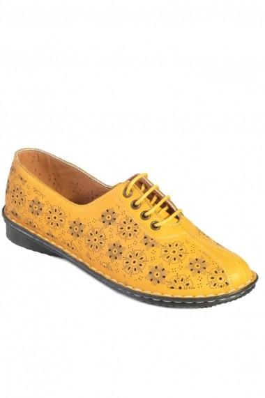 Pantofi Mopiel din piele naturala Sofia 2303004 Galben