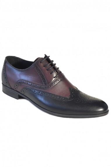 Pantofi Mopiel 142904 bordo, negru