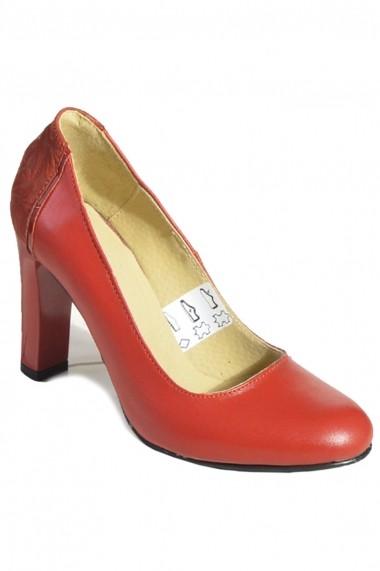 Pantofi cu toc Mopiel din piele naturala Corsica 24708 Rosu