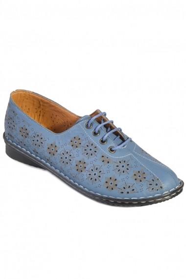 Pantofi Mopiel din piele naturala Sofia 238304 Bleu