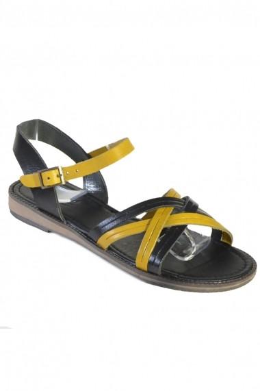 Sandale Mopiel din piele naturala Dia 25803 Negru si Galben