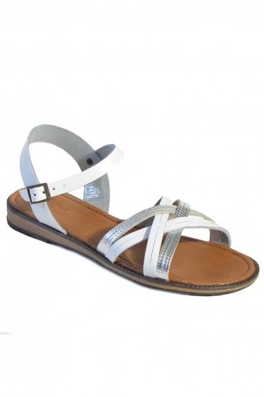 Sandale Mopiel din piele naturala Dia 285310 Argintiu