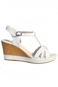 Sandale cu platforma Mopiel 250220 Alb