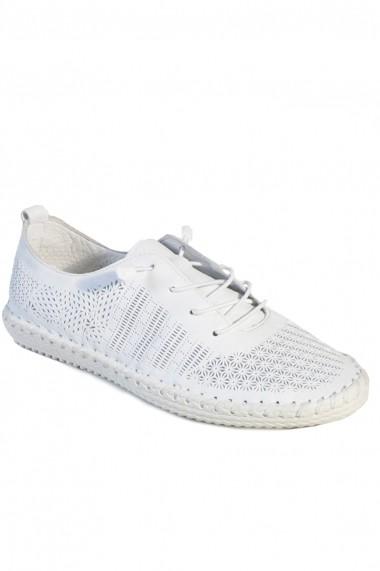 Pantofi sport casual Mopiel din piele naturala Luci 2383092 Alb Perforat