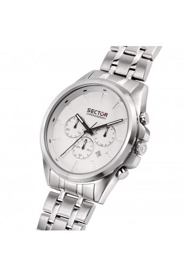 Ceas Sector R3273991005 cronograf inox carcasa 44mm cadran alb