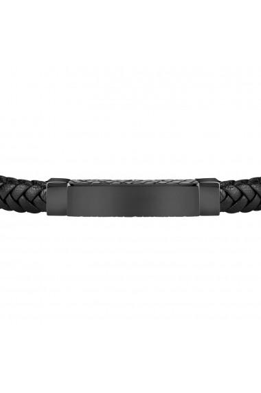 Bratara Sector Bandy SZV51 neagra piele inox lungime 21cm