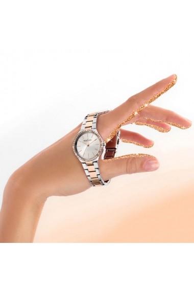 Ceas Morellato cod R0153157504, argintiu+Rose Gold, carcasa 30mm