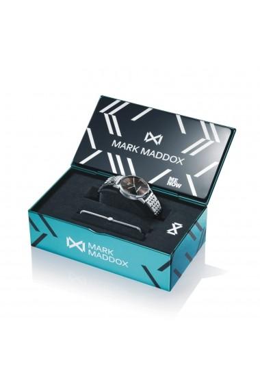 Set ceas+bratara Mark Maddox MM2005-57, inox, carcasa 36mm