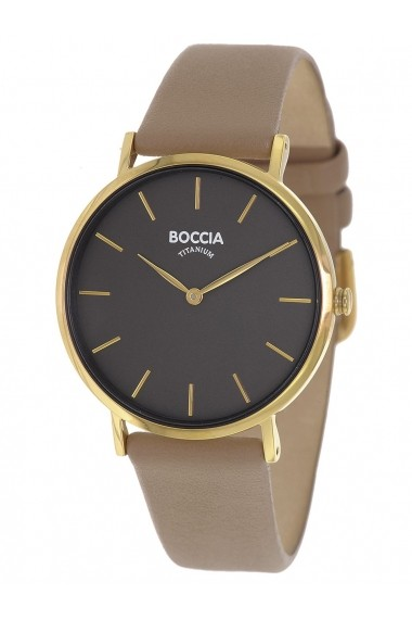 Ceas Boccia cod 3273-04, carcasa titan auriu, 36mm