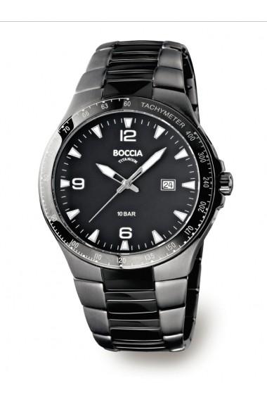 Ceas Boccia cod 3549-03, titan, carcasa 44mm
