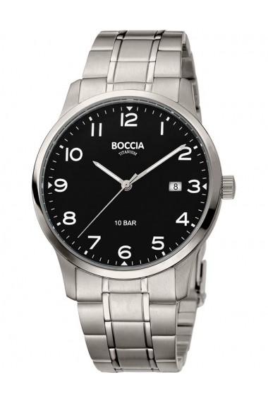 Ceas Boccia cod 3596-01, titan, carcasa 40mm
