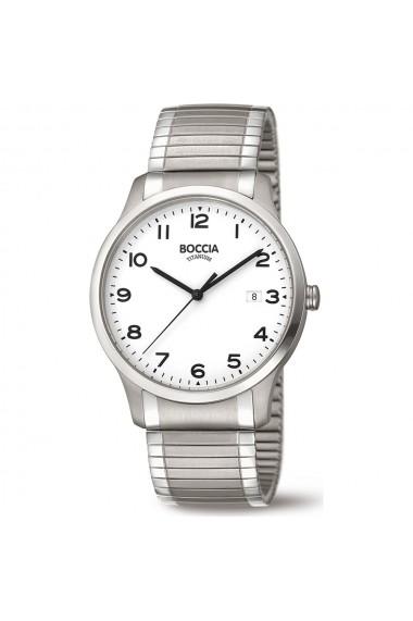 Ceas Boccia cod 3616-01, titan, carcasa 40mm, bratara elastica