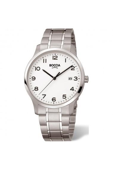 Ceas Boccia cod 3620-01, titan, carcasa 40mm