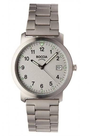 Ceas Boccia cod 3630-02, unisex, titan, carcasa 37mm