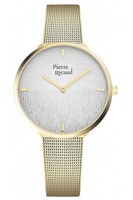 Ceas Pierre Ricaud P22086.1113Q, inox auriu, carcasa 36mm