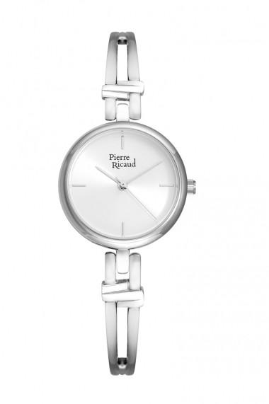 Ceas Pierre Ricaud P21037.5113Q, inox argintiu, carcasa 27mm