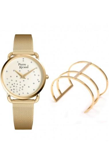 Set ceas+bratara Pierre Ricaud P21066.1141Q/101.1, inox, carcasa 33mm