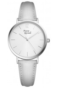 Ceas Pierre Ricaud P51078.5S53Q, argintiu, carcasa inox 34mm
