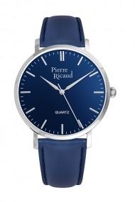 Ceas Pierre Ricaud P91074.5415Q, albastru, carcasa inox 40mm