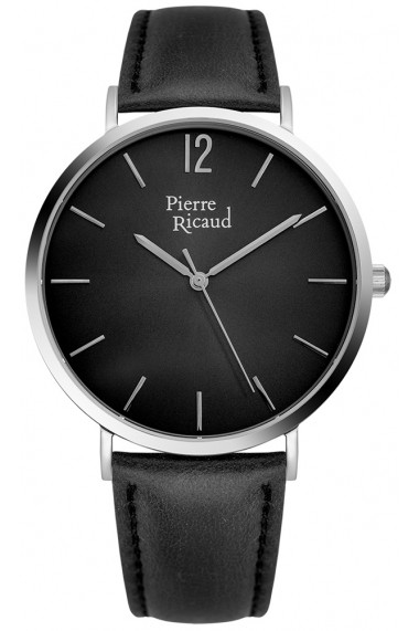 Ceas Pierre Ricaud P91078.5254Q, negru, carcasa inox, 41mm