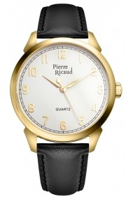Ceas Pierre Ricaud P97228.1213Q, carcasa inox auriu, 41mm