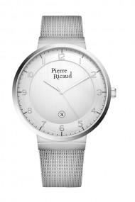 Ceas Pierre Ricaud P97253.5123Q, inox argintiu, carcasa 41mm