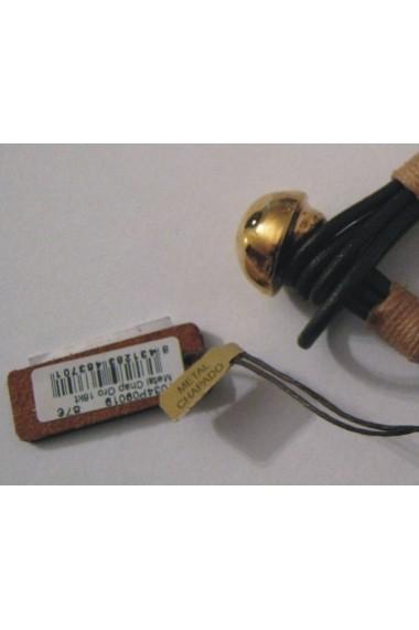 Bratara Viceroy 1034P09019 piele maro metal placat cu aur 18k