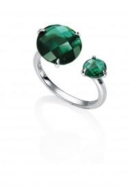 Inel Viceroy 9013A015-52, diametru 17.5mm argint cristal verde