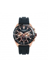 Ceas Viceroy cod 46649-99, carcasa inox Rose Gold, 43mm, curea silicon