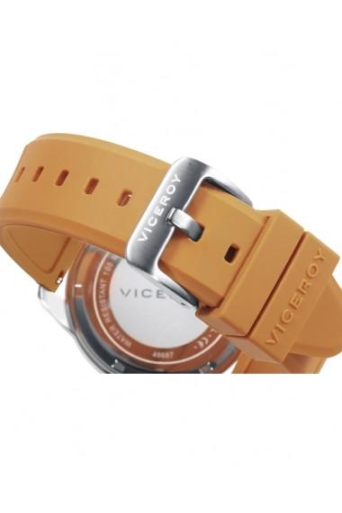 Ceas Viceroy cod 46687-99, carcasa inox, 42mm, curea cauciuc