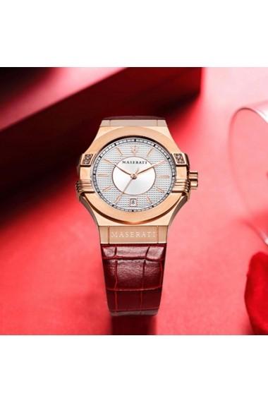 Ceas Maserati Potenza R8851108501, carcasa inox Rose Gold, 35mm