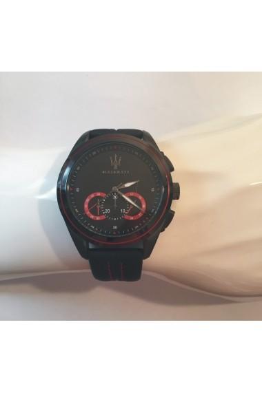 Ceas Maserati Traguardo R8871612023, carcasa inox negru, 45mm, curea neagra